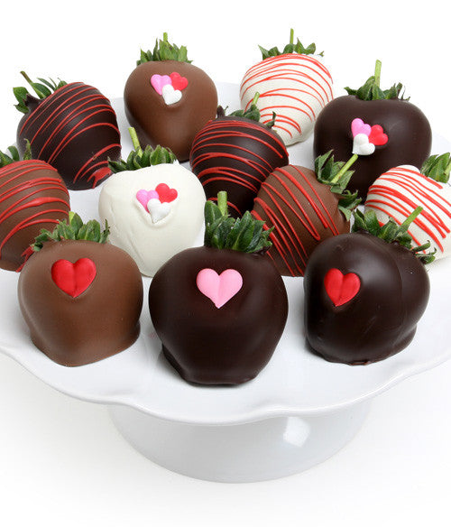 Love Hearts Decorated - Belgian Chocolate Covered Strawberries - Chocolate Covered Company®
