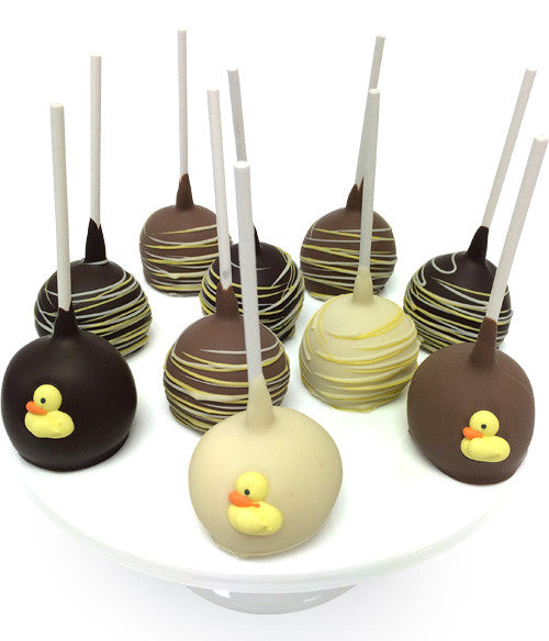 New Baby Chocolate Dipped Cake Pops - 10pc