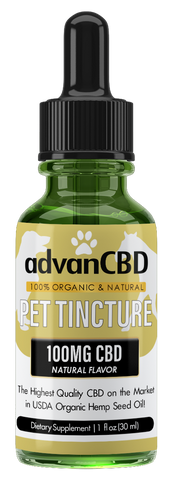 advanCBD Pet Organic Hemp Oil Tincture - Natural