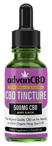 advanCBD Organic Hemp Oil Tincture - Berry