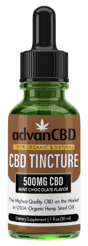 advanCBD Organic Hemp Oil Tincture - Mint Chocolate