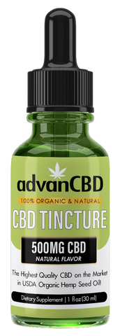 advanCBD Organic Hemp Oil Tincture - Natural