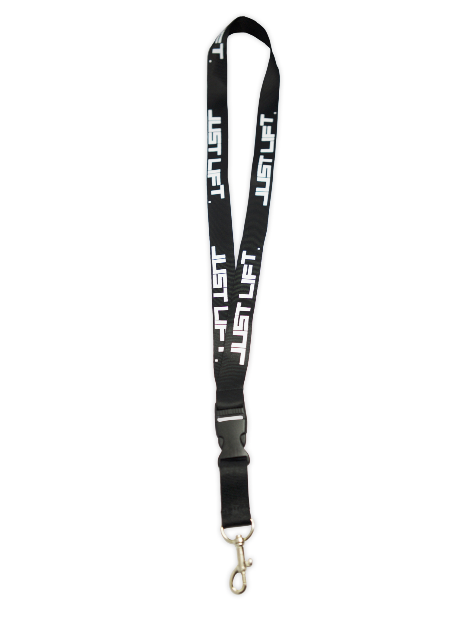 Just Lift. Lanyard/Key Chain holder (Black)