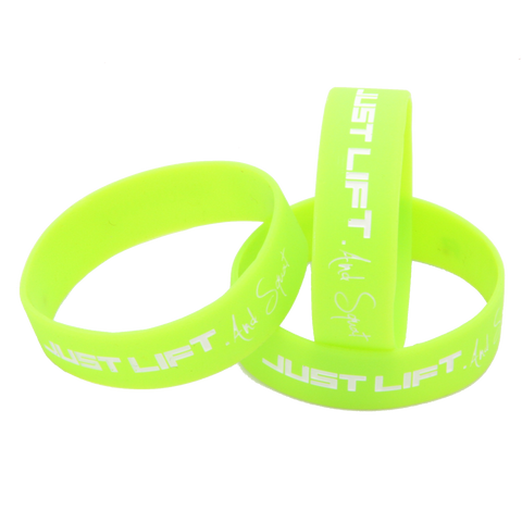 Just Lift. Wristband (White)