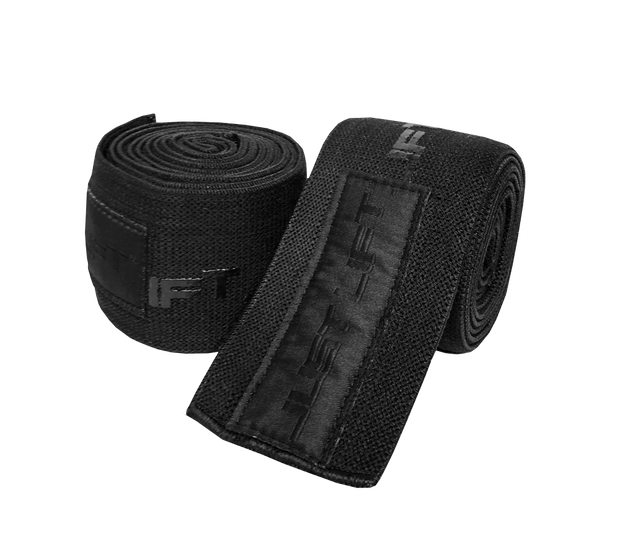 Just Lift. BLK Knee/Elbow Wraps