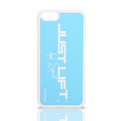 Just Lift. And Squat iPhone 6 Rubberised Case – Pastel Blue