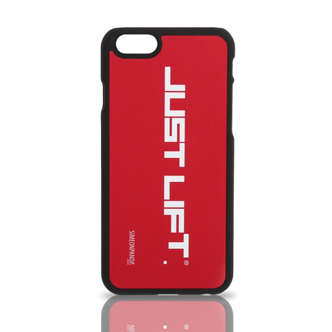 Just Lift. iPhone 6 Rubberised Case – Red