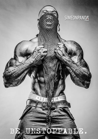 Simeon Panda Signed Just Lift. GTA Poster