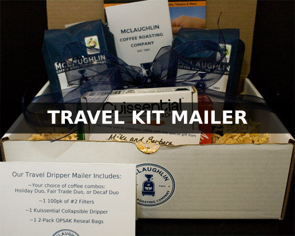 COFFEE GIFT PACKAGE WITH TRAVEL SET - McLaughlin Coffee Roasting Company