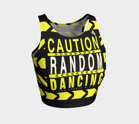 Caution Athletic Crop