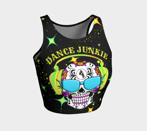 Sugar Skull Athletic Crop Top