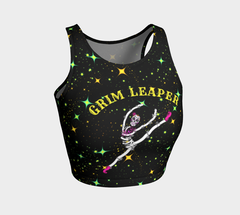 Sugar Skull Grim Leaper Athletic Crop
