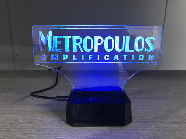 Metropoulos Block Logo LED display