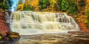 Agate Falls in Upper Michigan during the fall.