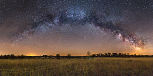 Milky Way Galaxy arching over a field in the Augusta State Wildlife Area near Augusta, Wisconsin.