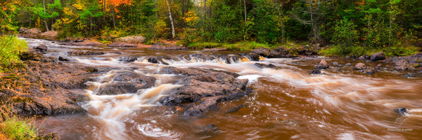Amnicon River in the fall.