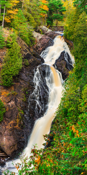 Big Manitou Falls in northern Wisconsin during autumn.