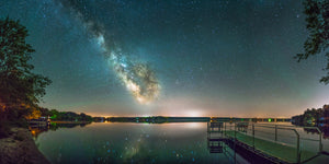 Milky Way Galaxy over Lake Eau Claire near Augusta, Wisconsin.