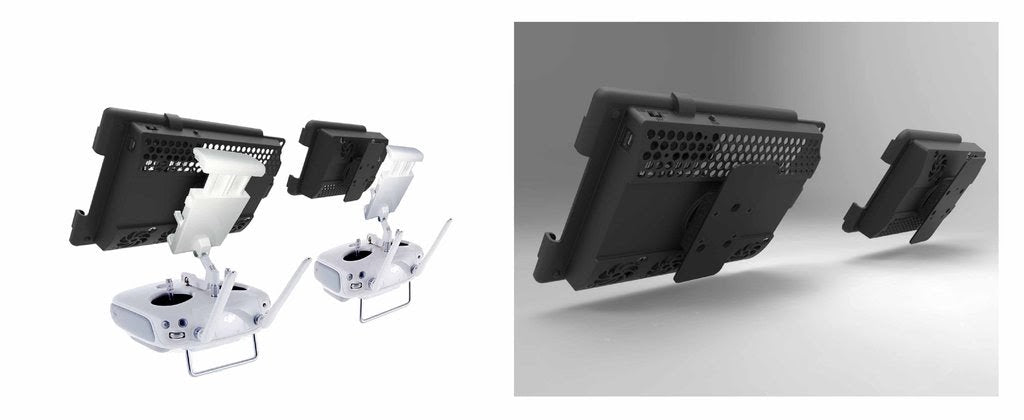 Drone controller bracket systems