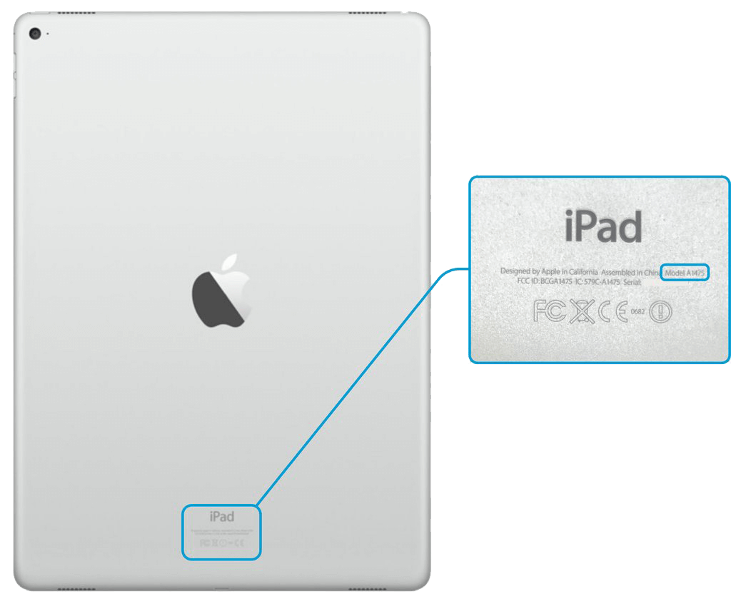 Where to find your iPad Model Number