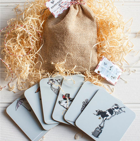 Circus Farm Coasters - Allegoric Designs