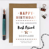 Best Friend card from Coulson Macleod