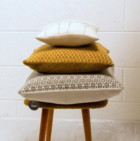 Honeycomb Square Cushions - Janie Knitted Textiles