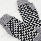 Miss Knit Nat - luxury knitted lambswool mitts
