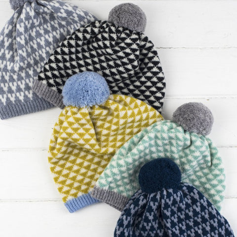 Miss Knit Nat - luxury knitted lambswool hats