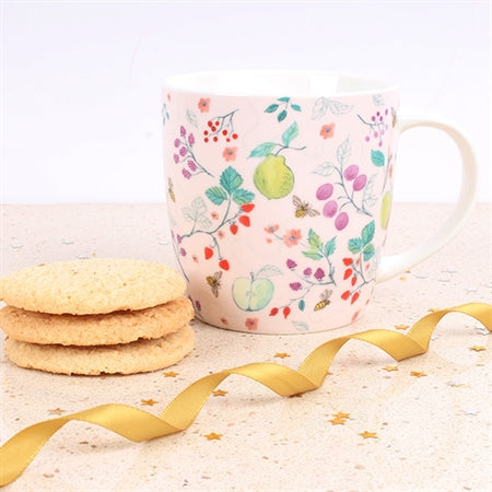 British Summer Fruits Mug - Milly Green