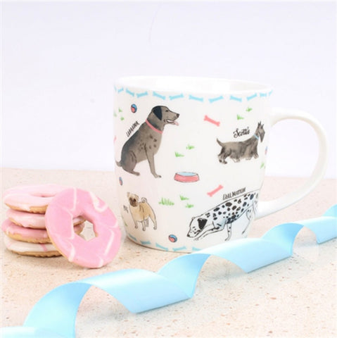 Debonair Dogs Mug - Milly Green
