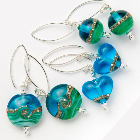 Beach Art Glass - Award Winning Glass Earrings