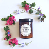 Hazel and Blue Candles - Eco-friendly scented Amber Jar Candles.