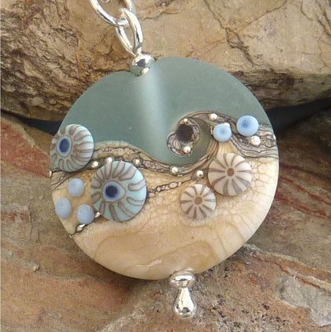 Beach Art Glass - Award Winning Glass Necklace