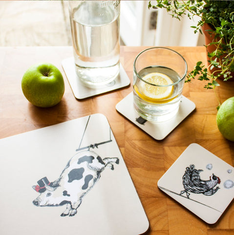 Allegoric Designs - Circus Farm Coasters and Placemats