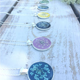 Lumii Home - Pretty Pressed Flower Resin Pendants