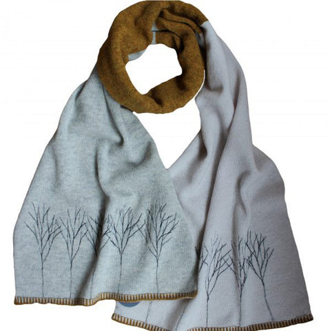 Treeline Colour Block Scarf - Janie Knitted Textiles