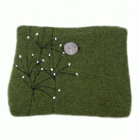 Wildflower Merino Wool Purse - Janie Knitted Textiles