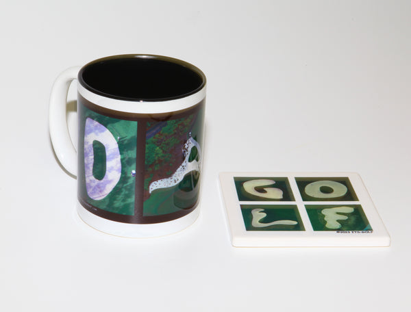 DAD Golf Coffee Mug + GOLF Coaster