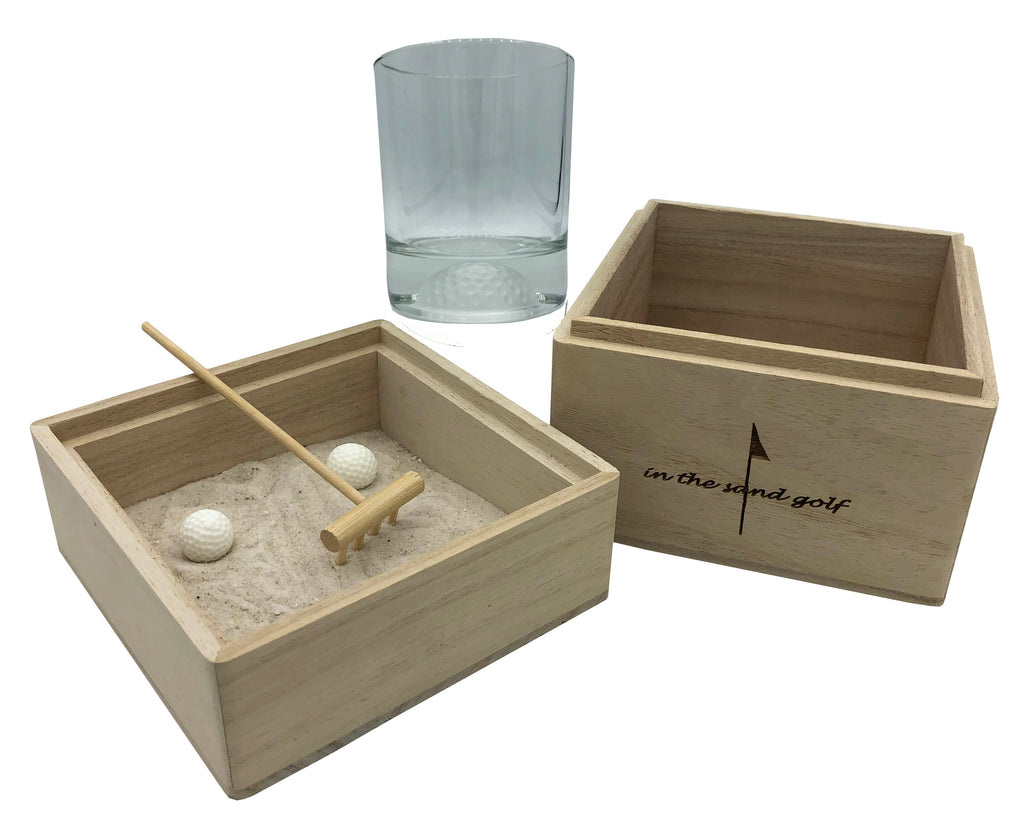 ITS GOLF Zen Garden with Golf Ball Whiskey Glass