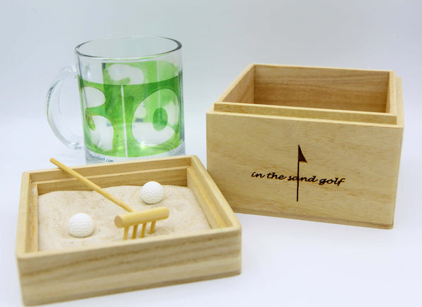 ITS GOLF Zen Garden with Clear Golf Mug