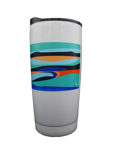 The Open Elements 20oz Aqua/White Tumbler