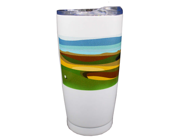 The Open Elements 20oz Marine Blue/White Tumbler