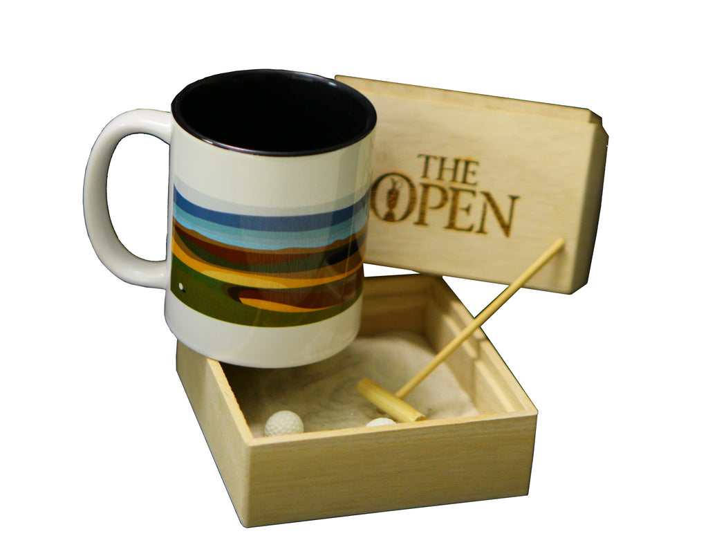 The Open Elements Zen Garden with Marine Blue Mug