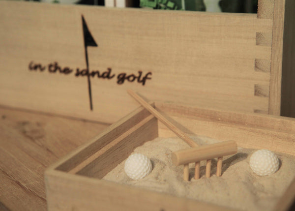 ITS GOLF Zen Garden with Personalized Golf Mug