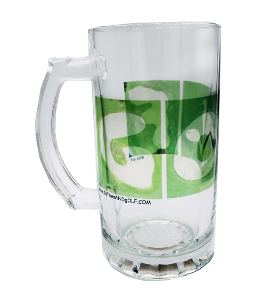 GOLF Clear Glass Beer Stein