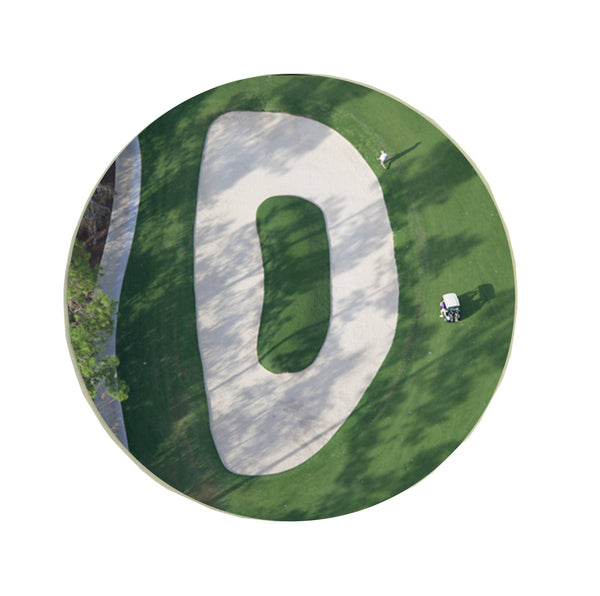 Letter D Greeting Card with Ball Marker