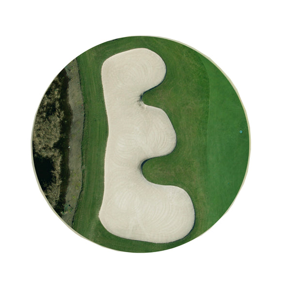 Letter E Greeting Card with Ball Marker
