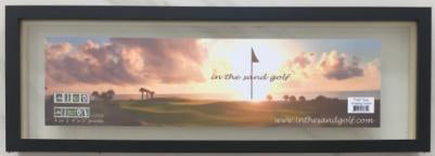 "Personalized Golf Name Frame for Sand Trap Photos 3-4 Letters 8"" x 20"""