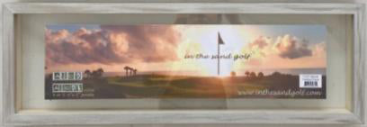 "Personalized Golf Name Frame For Sand Trap Photos 8""x25"" (4-5 Letters)"